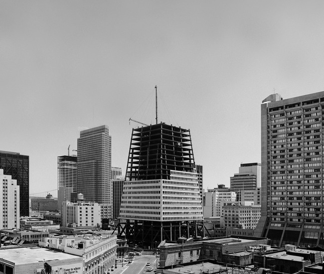 Transamerica Pyramid construction