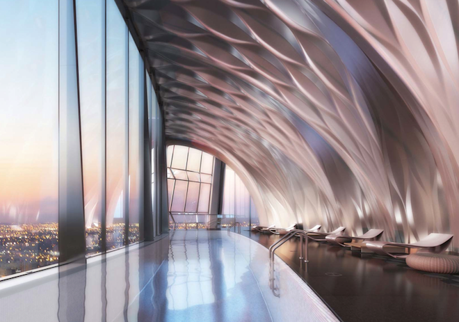Zaha Hadid Thousand Museum indoor pool