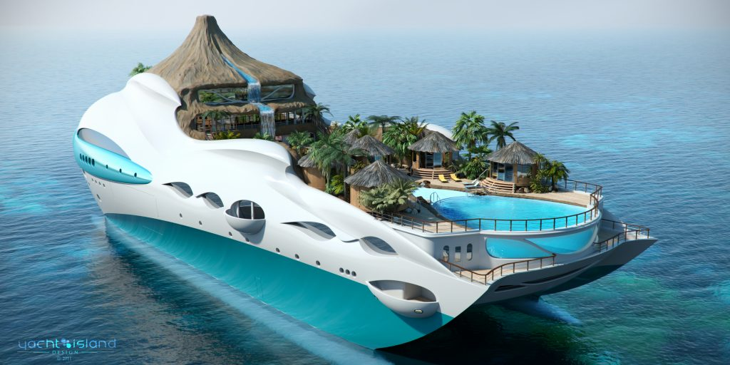 floating homes - tropical island paradise