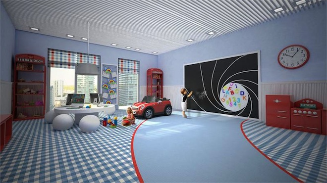 Bond on Brickell children's playroom