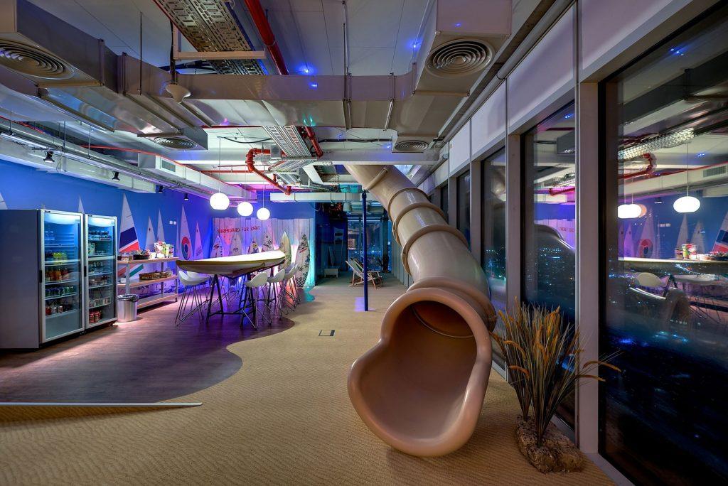 Google Tel Aviv office slide