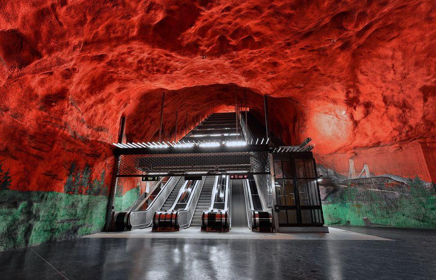 Stockholm subway escalator