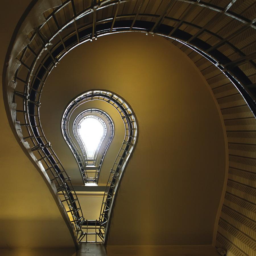 cubist museum staircase prague