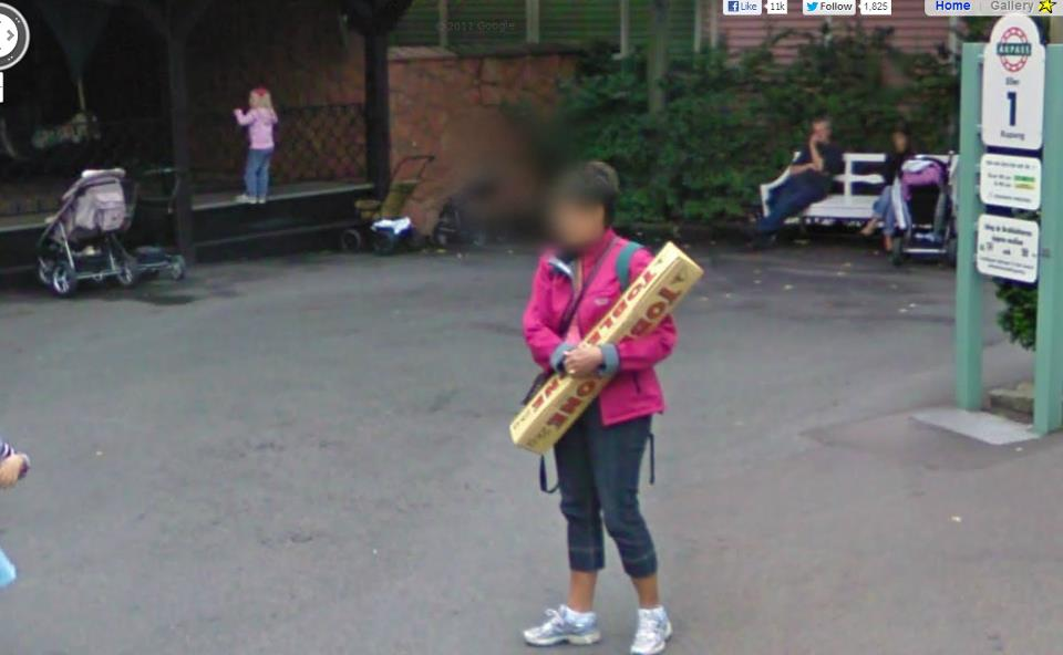 lady toblerone Google Street View