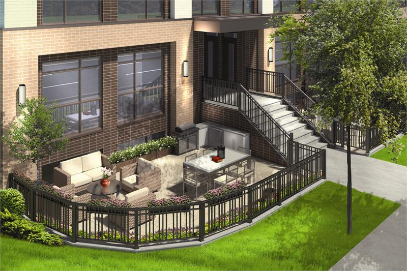 LA Courtyards private garden rendering
