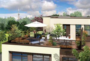LA Courtyards terrace rendering