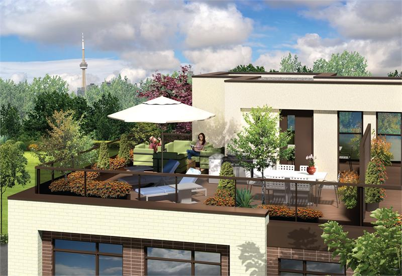LA Courtyards terrace rendering