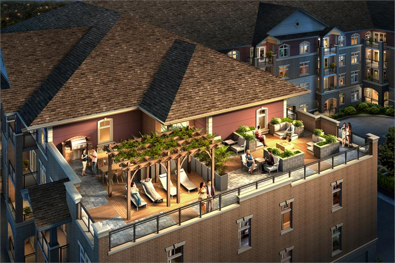 V2 Condos Roof Top Rendering