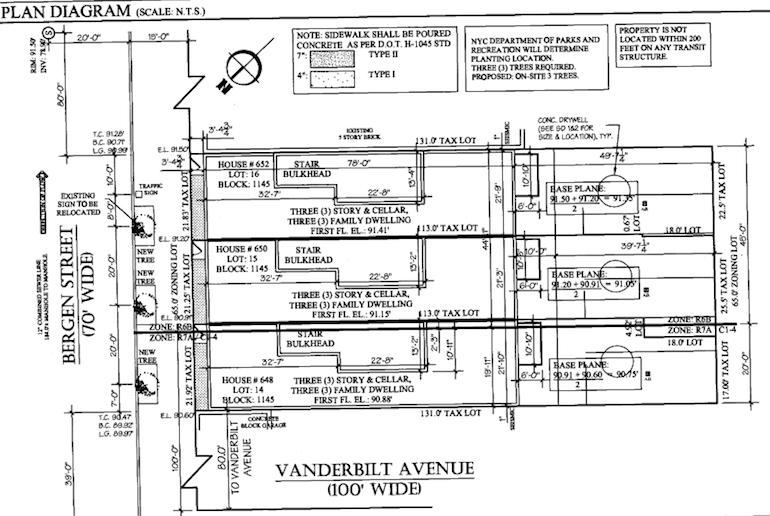 650 Bergen site plan diagram