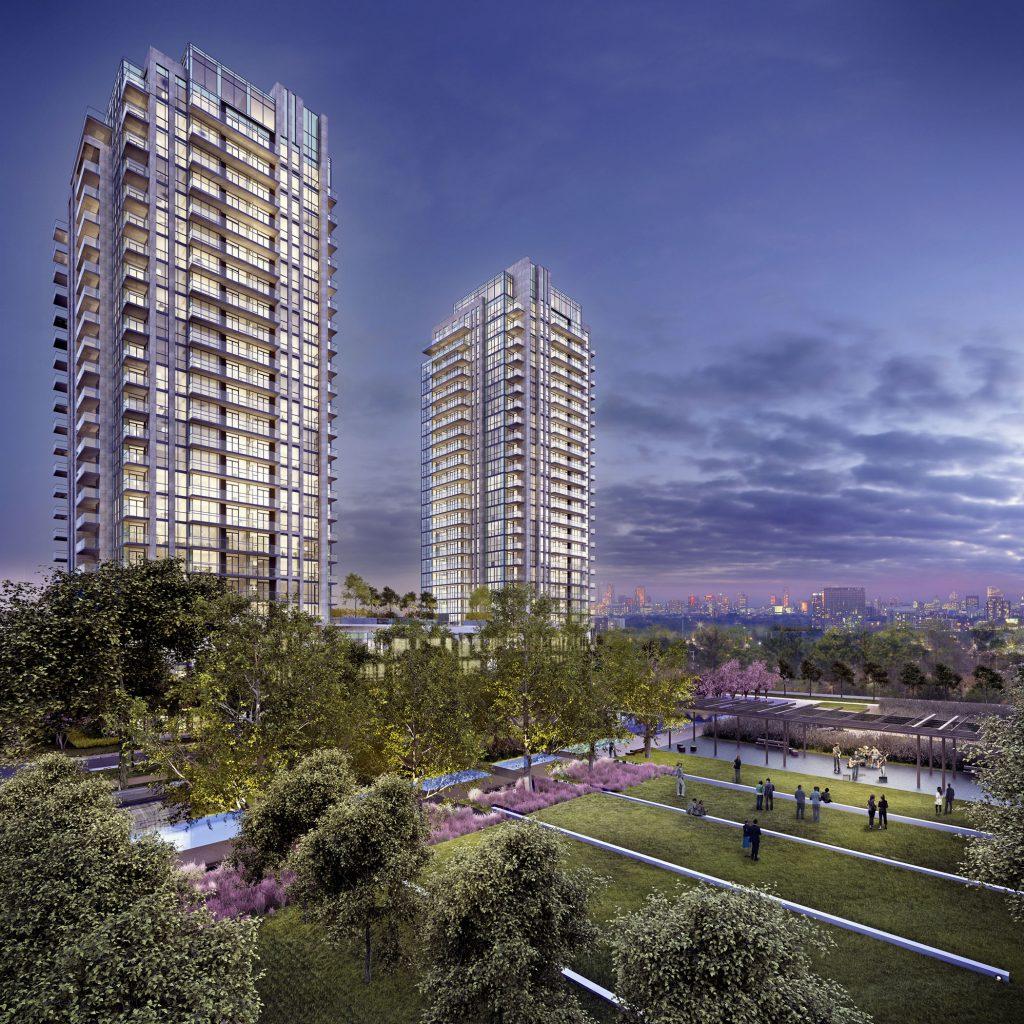 Park Towers - Aerial Exterior