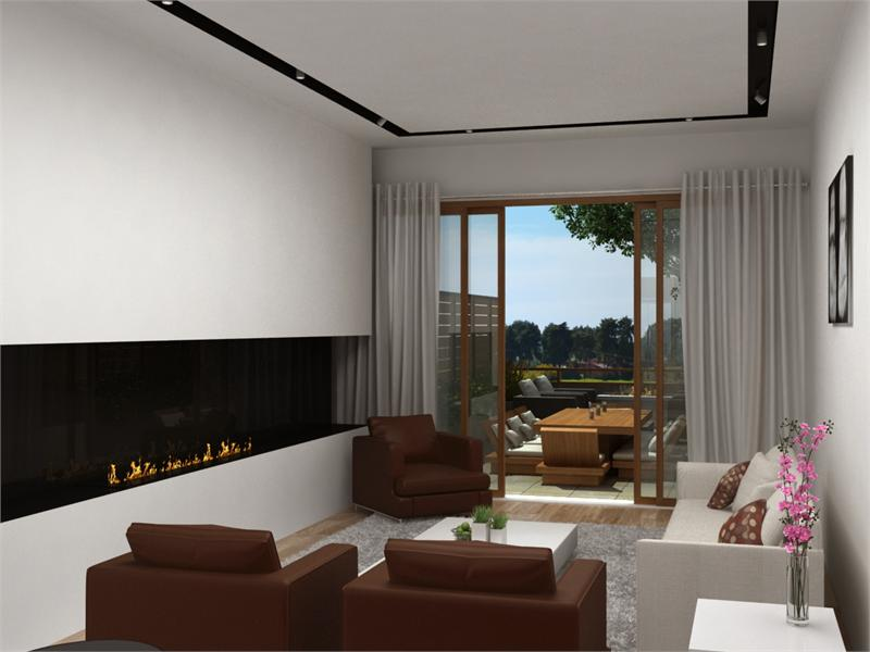 the wave living room rendering