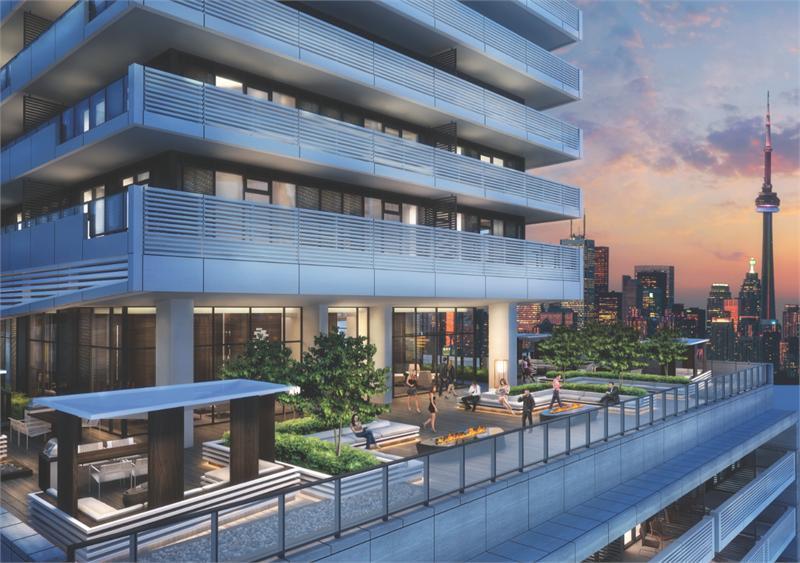 2221 yonge rooftop terrace rendering
