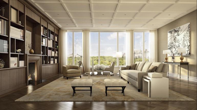 22 Central Park South living room copy