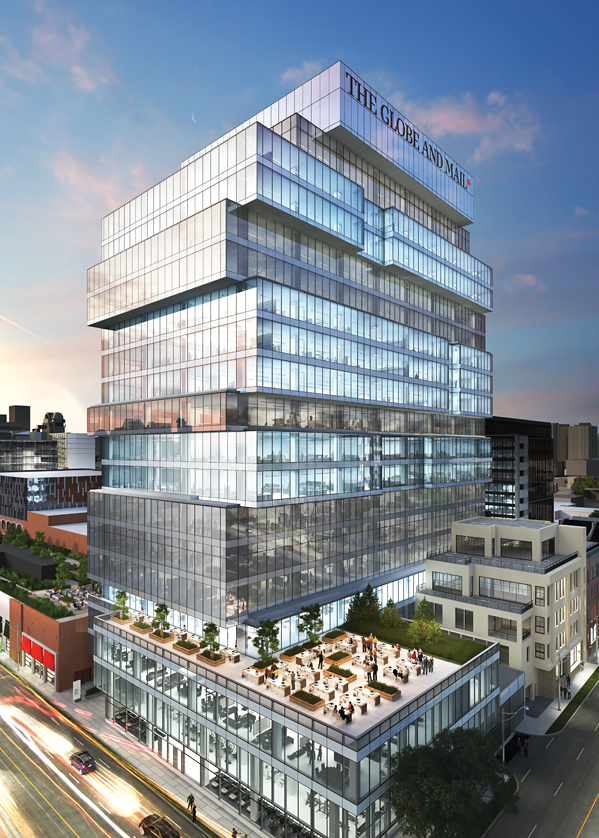The Globe and Mail Centre rendering