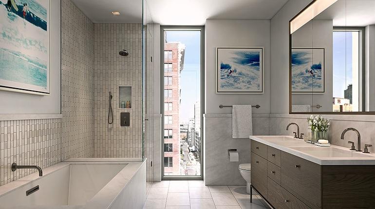 One Vandam bathroom
