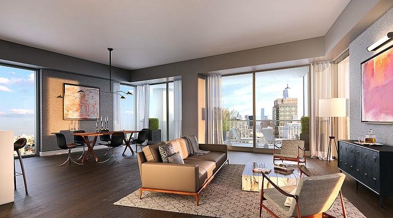 One Vandam living room