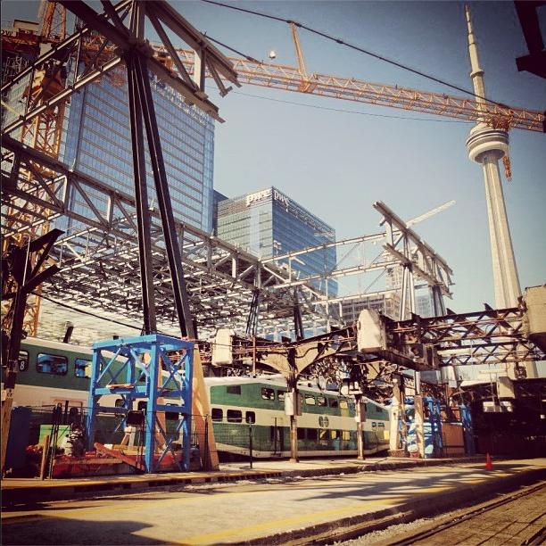 GO train Union Station construction