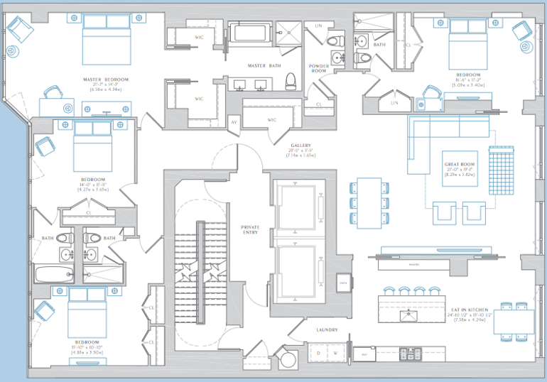 The Charles floors 3-7