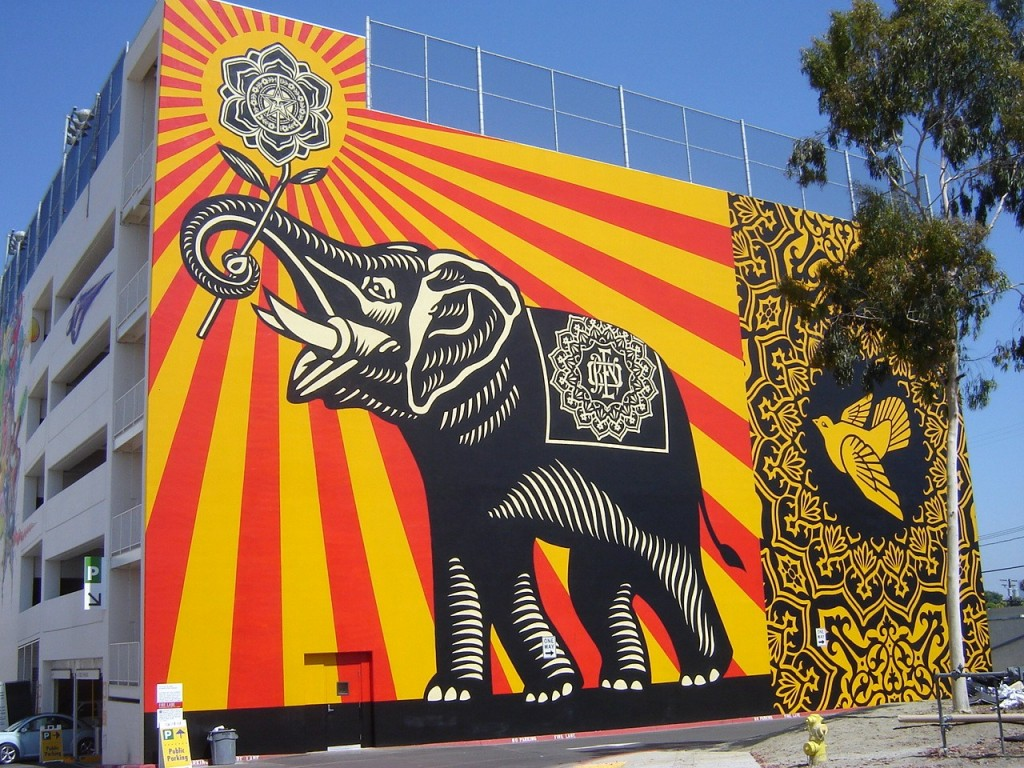 west hollywood elephant mural