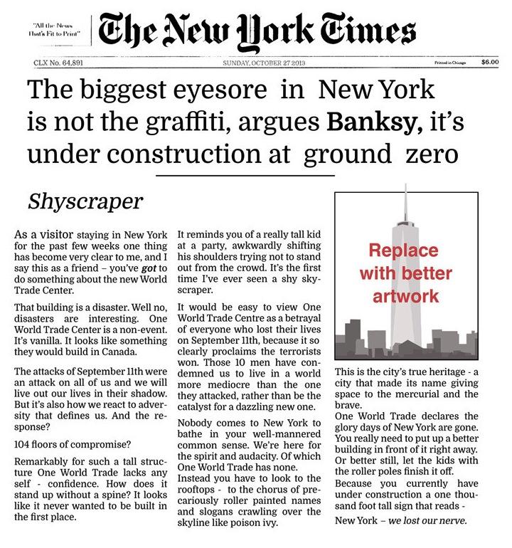 nytimes banksy