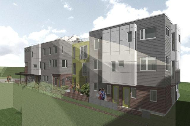 olive townhomes exterior