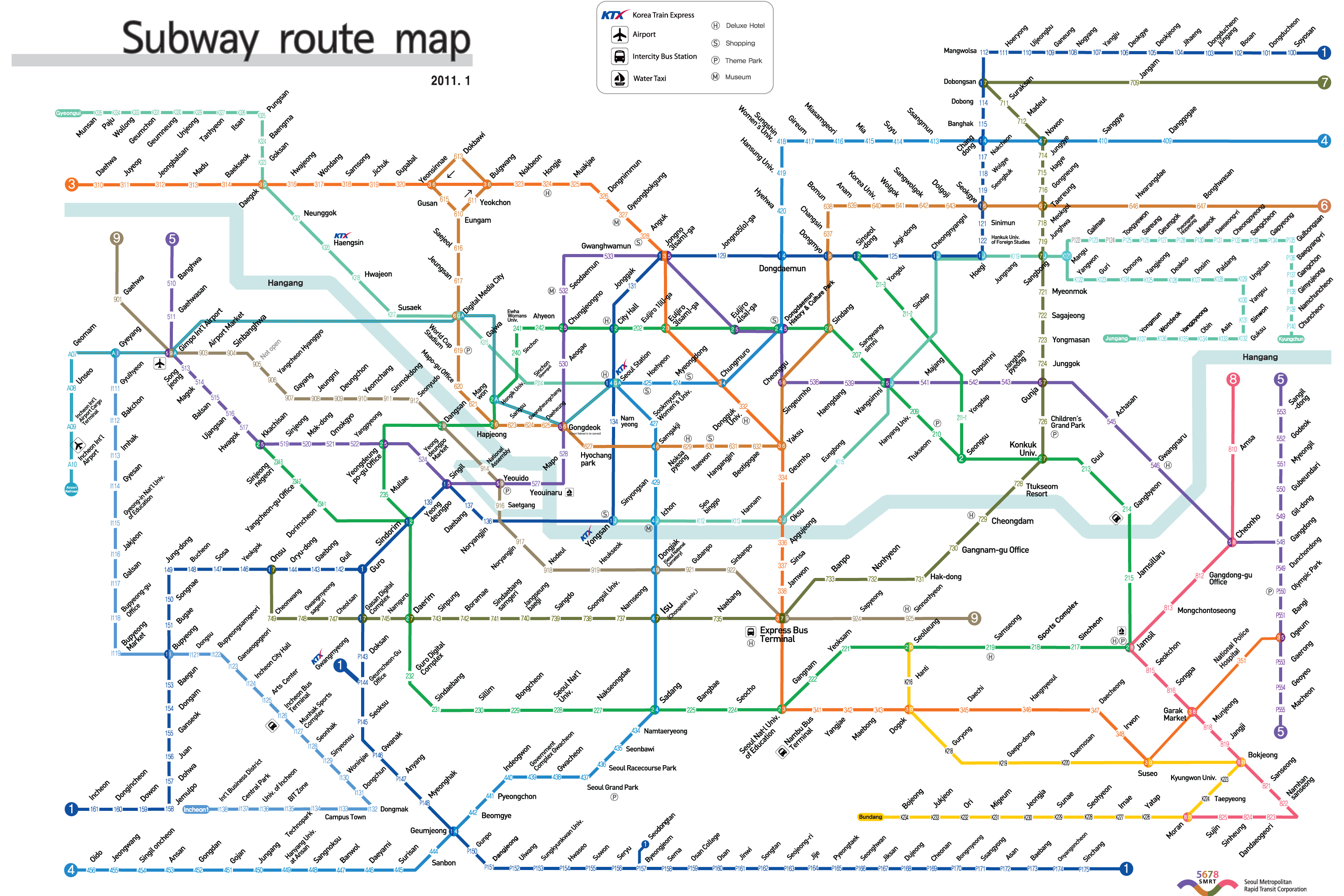 Eoul Subway Map.Seoul Subway Map Livabl
