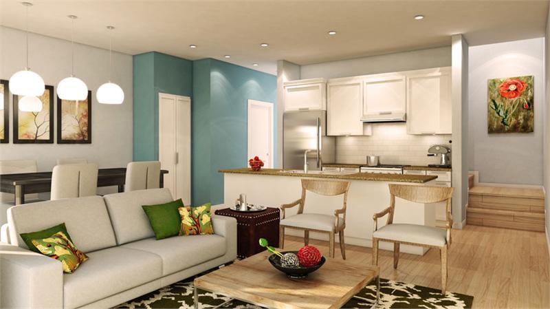 uptownes interior rendering