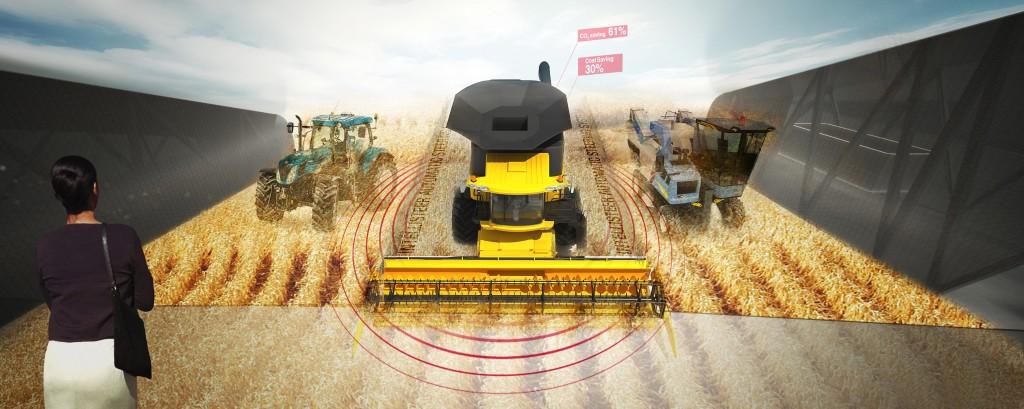 Robot tractors rooftop garden-1