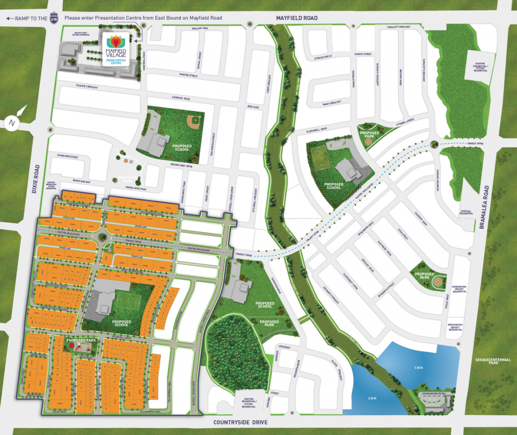mayfield village site plan