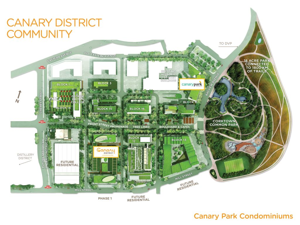 Site Plan canary district