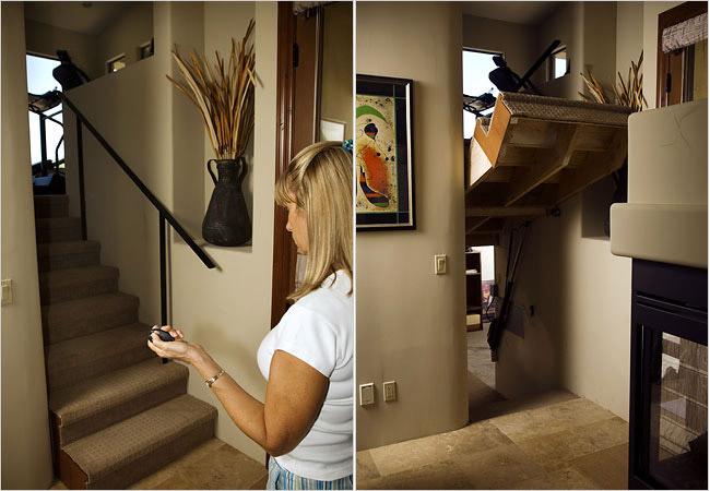 retractable stairs hidden room