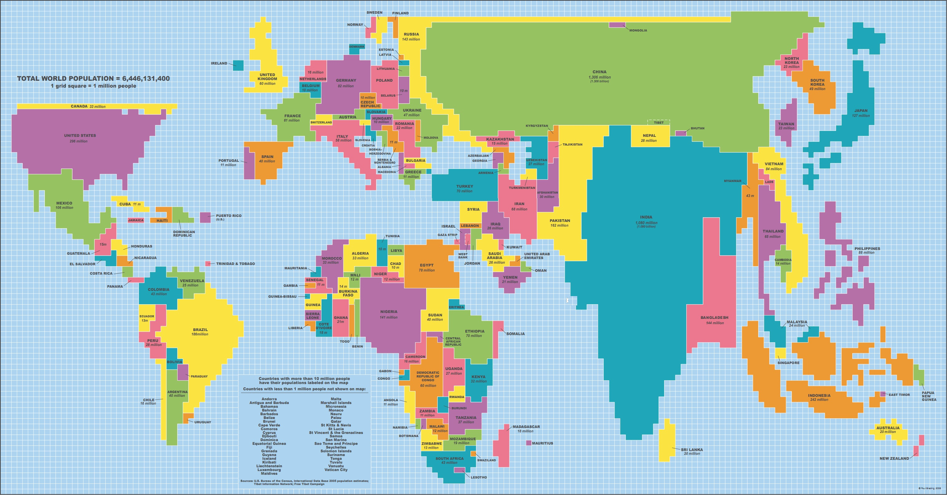World map adjusts each countrys size based on population china india and indonesia really balloon while countries like iceland and belize have so few people they dont even register on the atlas gumiabroncs Images