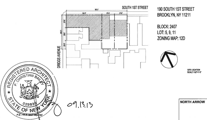 190 first street site diagram