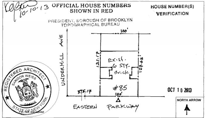 85 eastern parkway plot