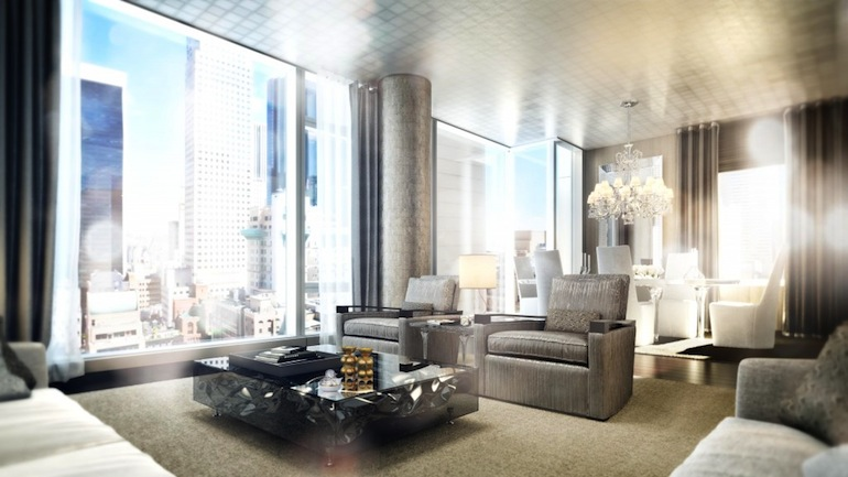 Baccarat Residences living room 2013