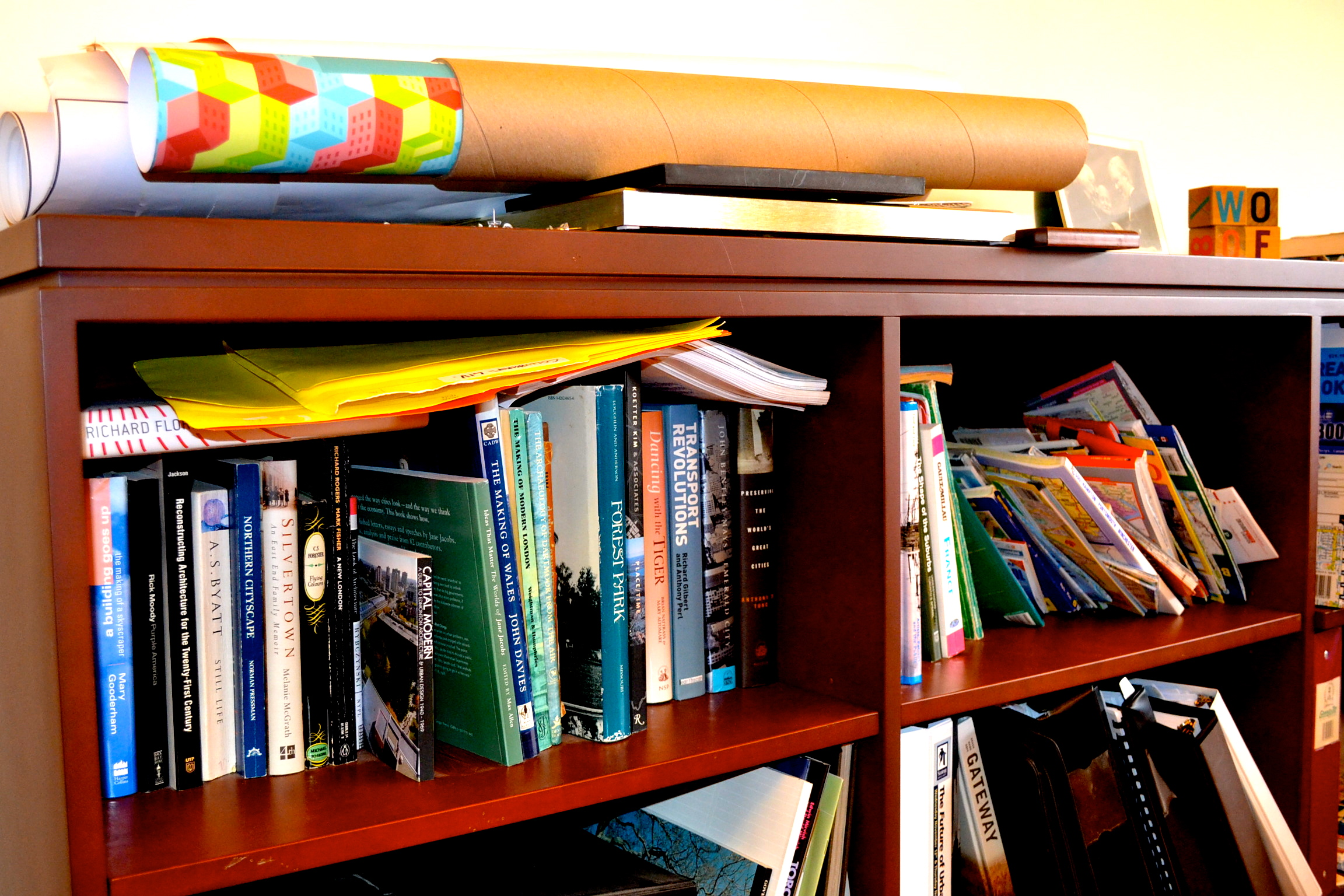 urban planner bookshelf