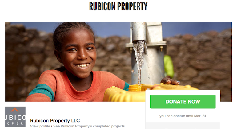 Rubicon charity water