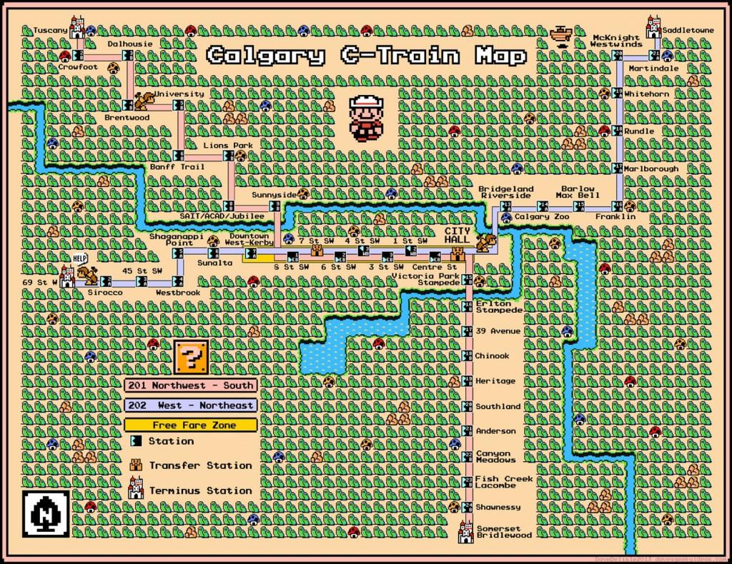 calgary mario metro map