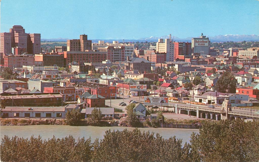 downtown calgary 1949