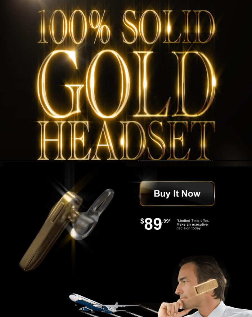 gold headset old spice