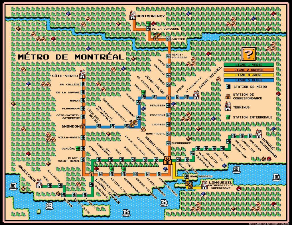 montreal mario metro map
