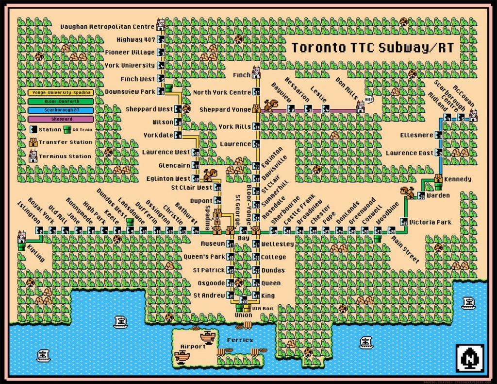 toronto mario metro map
