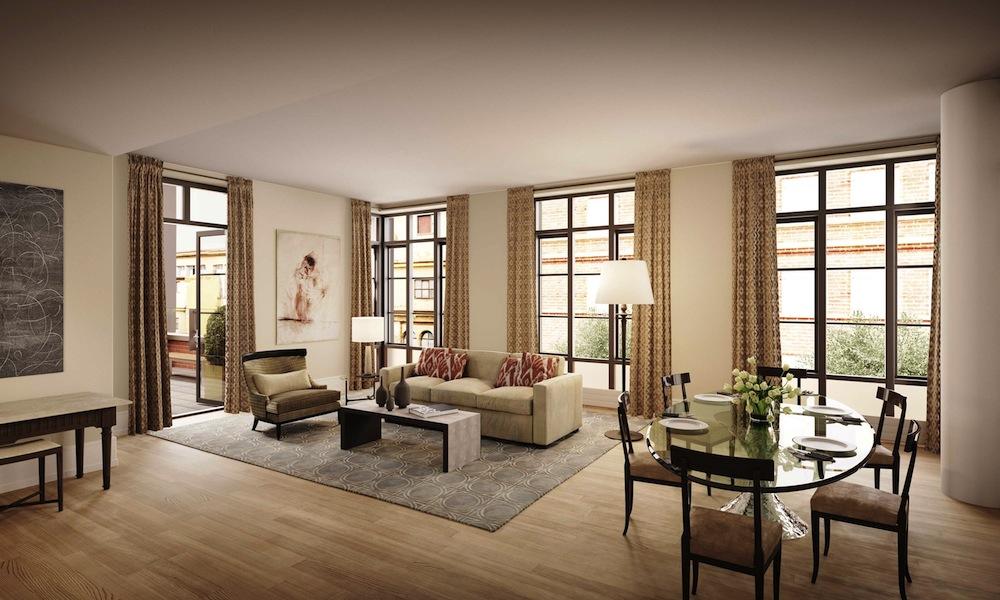 215 Sullivan loft living room