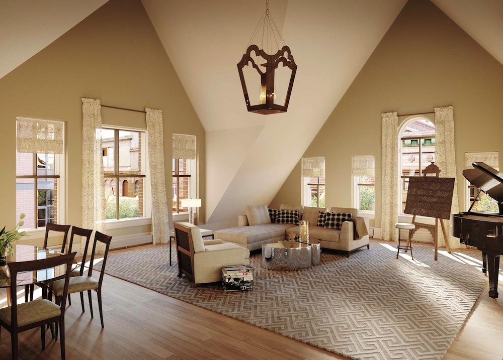 215 sullivan penthouse living room