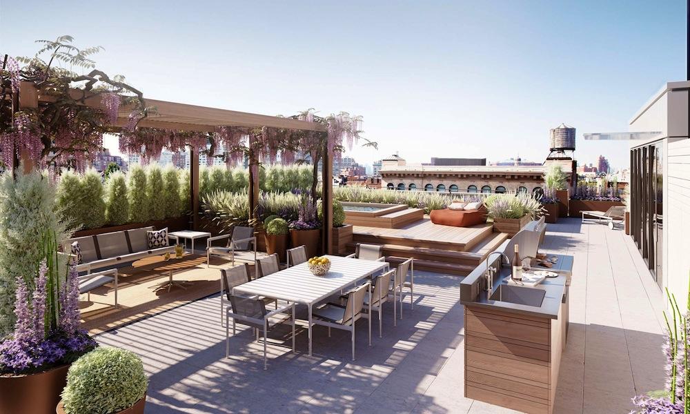 215 sullivan penthouse rooftop terrace