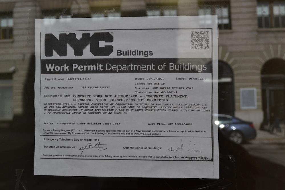 286 Spring work permit