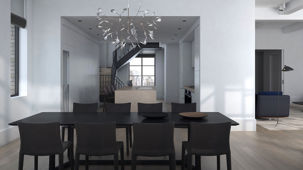 Huys Penthouse 17B dining room