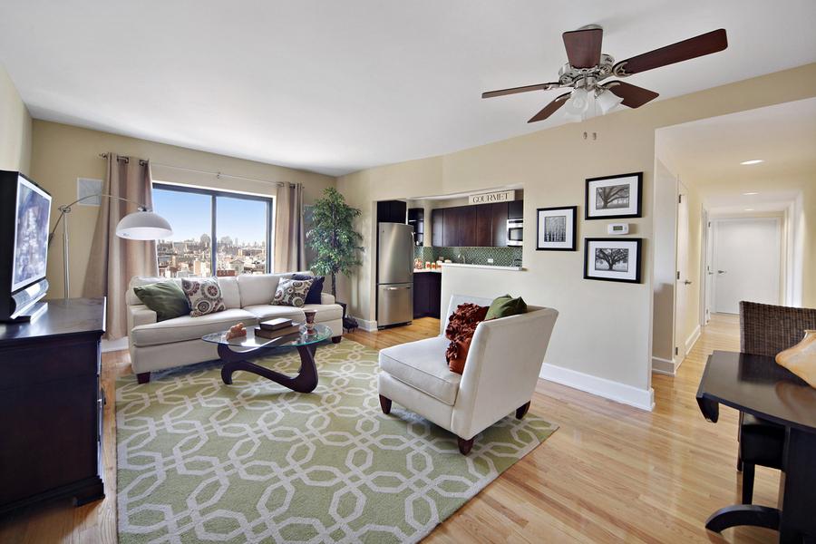 The Shelton living room