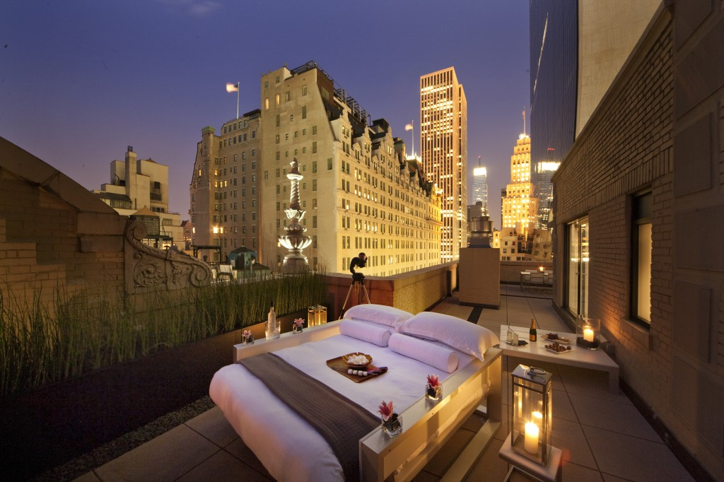 central park outdoor bedroom