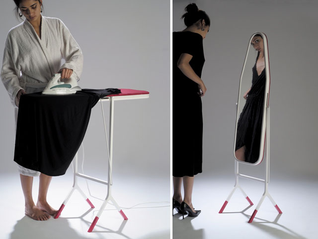 mirror ironing board